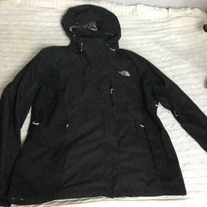 The North Face Black Hooded Jacket Size XL